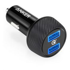 Anker PowerDrive Speed USB 2-Port Quick Charge USB Car Charger - Black