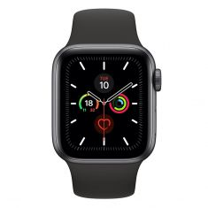 [Open Box As New] Apple Watch 44mm S5 (Cellular) - Space Grey Al Case w/ Black Sport Band front