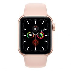 [Open Box - As New] Apple Watch 40mm S5 (Cellular) - Gold Al Case w/ Pink Sand Sport Band front