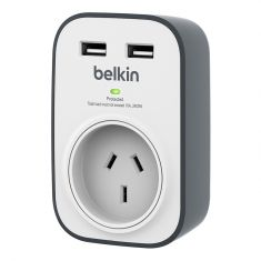Belkin SurgePlus 1 Outlet with 2 USB Ports 2.4A Surge Protector