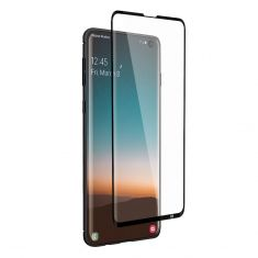 EFM Impact Flex Screen Armour For Samsung Galaxy S10 - Clear/Black Frame front