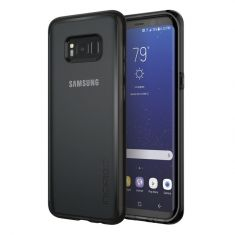 Incipio Octane Clear Pure Impact Absorbing Case for Samsung Galaxy S8+ - Black Front/Back