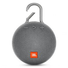 JBL Clip 3 Portable Bluetooth Speaker With Carabiner - Grey