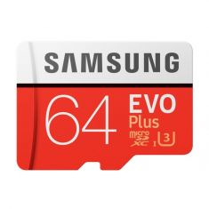 Samsung EVO Plus 64GB 100MB/s U3 MicroSDXC with Adapter
