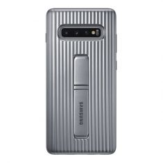 Samsung Galaxy S10+ Plus Protective Standing Cover - Silver Back