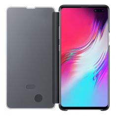 Samsung Galaxy S10 5G Clear View Cover Black with phone