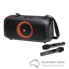 JBL Partybox GO Portable Speaker with lights and wireless microphone- Black-main