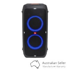 JBL PartyBox 310 Portable Bluetooth Speaker with Party Lights - Black -front