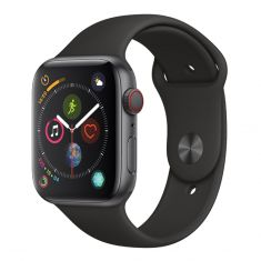 Apple Watch Series 4 44mm Space Grey Aluminium Case Black Sport Band (GPS + Cellular)-main