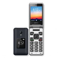 Aspera F42 Flip Phone (4G/LTE, 2MP) - Titanium-main