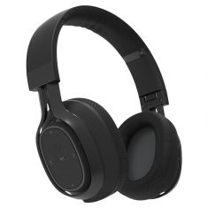 BlueAnt Pump Zone Wireless HD Audio Headphones Black Frontside