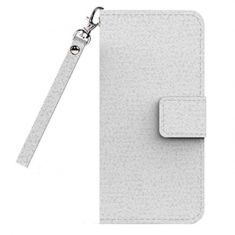 Cleanskin Flip Wallet Case with Mag-Latch for Apple iPhone 7 Plus - White - Front