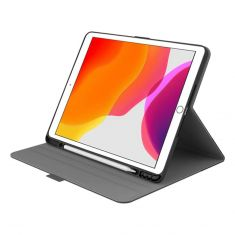 "Cygnett Tekview Slimline Case w/ Apple Pencil Holder for iPad 10.2"" Black front"