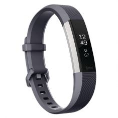 Fitbit Alta HR Fitness Tracker Small - Blue Gray Front Side