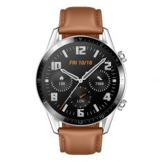 Huawei Watch GT 2 Classic 46mm Smartwatch Pebble Brown front