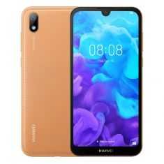 "Huawei Y5 2019 (5.71"", Dual SIM 4G/4G, Faux Leather) - Amber Brown front"