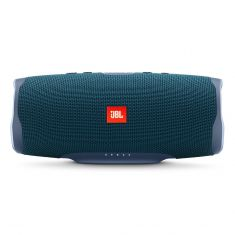 JBL Charge 4 Portable Bluetooth Speaker With Power Bank - Blue front