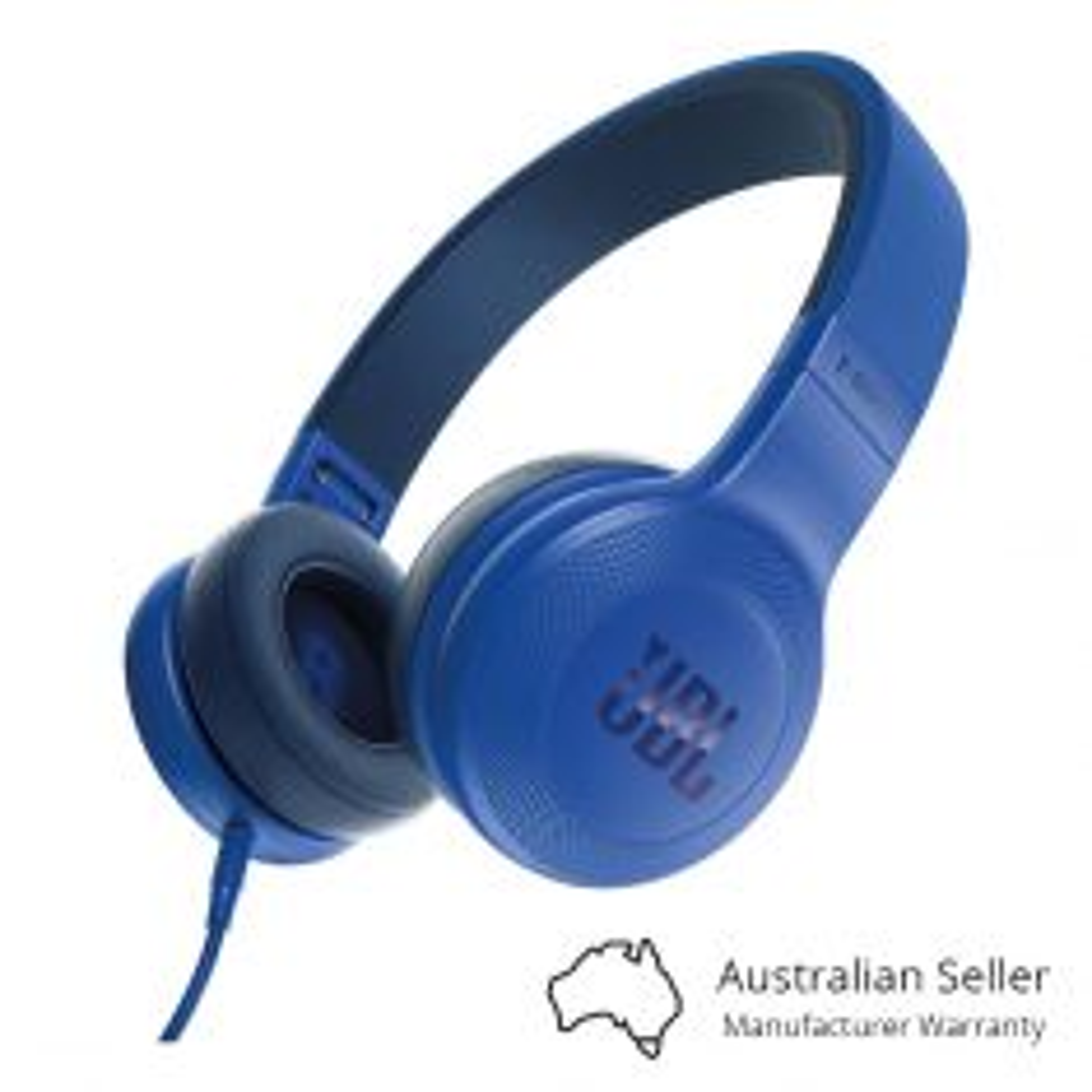 JBL E35 On-Ear Wired Headphones - Blue