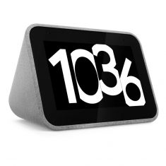 Lenovo Smart Clock with Google Assistant - Grey-right side
