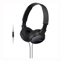 Sony MDR-ZX110AP Extra Bass Smartphone Headset - Black - Main