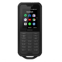 Nokia 800 Tough 4G/LTE IP68 Keypad Black Steel front