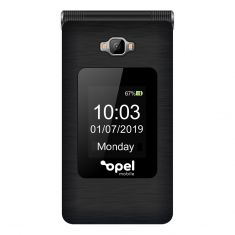 Opel Mobile Smart Flip (4G/LTE, Keypad) - Black Front