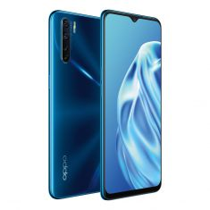 OPPO A91 (Dual SIM 4G, 48MP, 128GB/8GB) - Blazing Blue Front