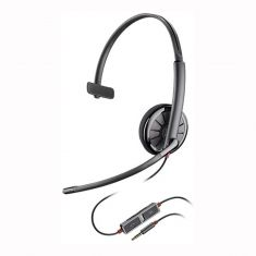 Plantronics Blackwire 215 Monaural On-Ear Headset - Black -main