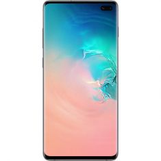"Samsung Galaxy S10+ Plus (6.4"", 128GB/8GB) - Prism White - Front"