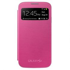 Samsung Galaxy S4 S-View/Clear Cover Pink Front