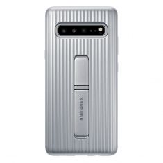 Samsung Galaxy S10 5G Protective Standing Cover Silver front