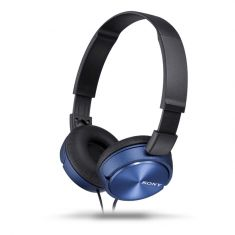 Sony MDR-ZX310AP Stereo Over-Ear Headphones - Blue Front