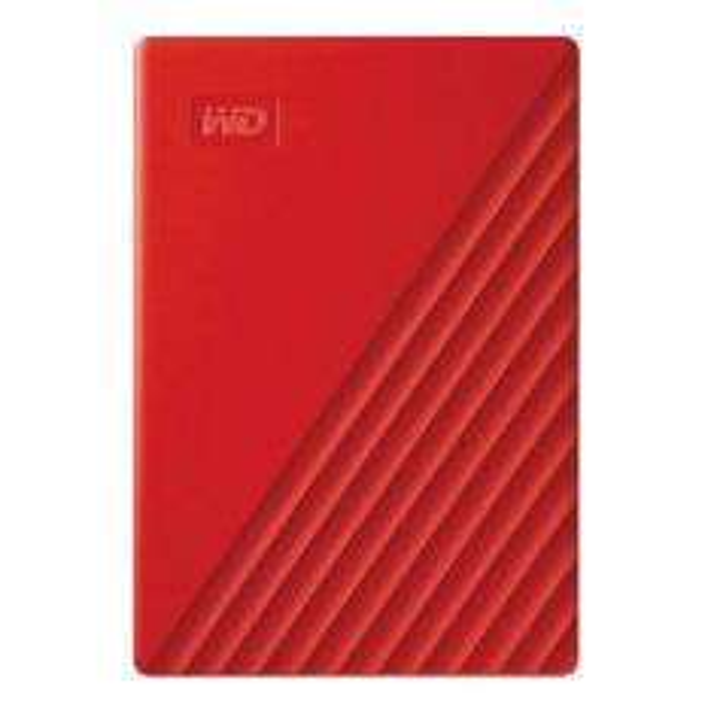 WD My Passport 4TB Portable Hard Drive USB 3.0 WDBPKJ0040BRD-WESN - Red-front