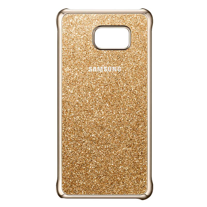 Samsung Galaxy S6 Edge Plus Glitter Cover Gold