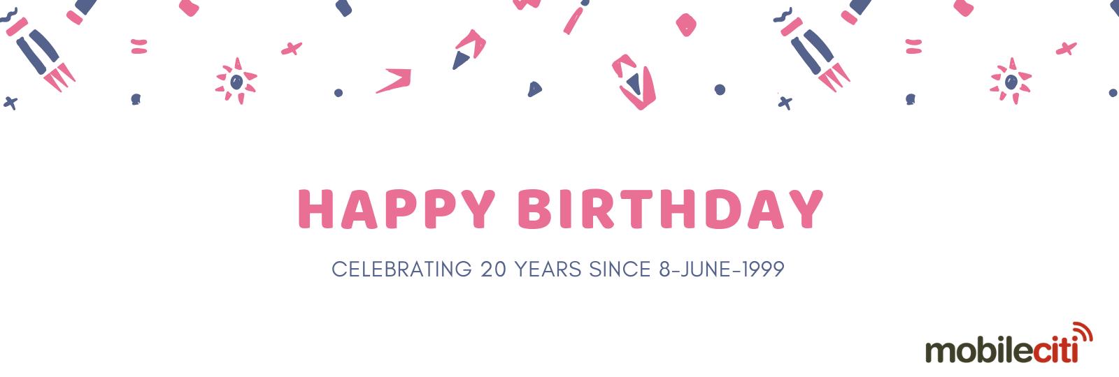Mobileciti 20th Birthday